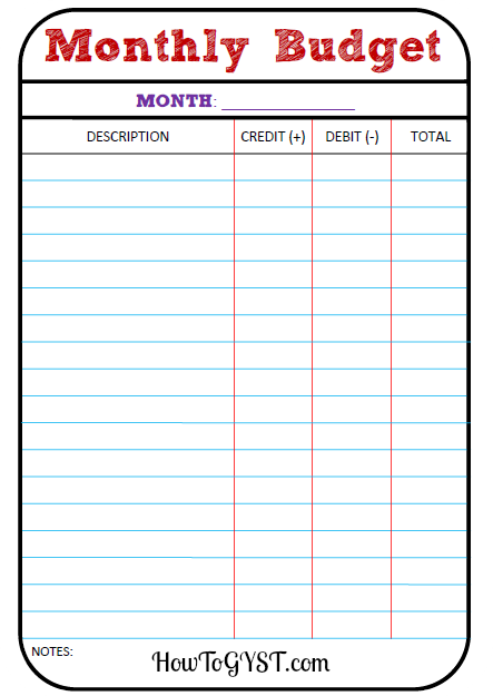Printables Simple Monthly Budget Worksheet basic budgeting the how to gyst beginners guide get budget monthly sheet financial tracker