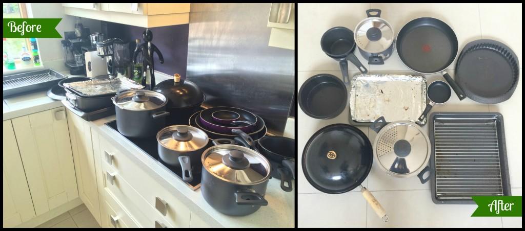KonMari. Kitchen. Pots and pans.