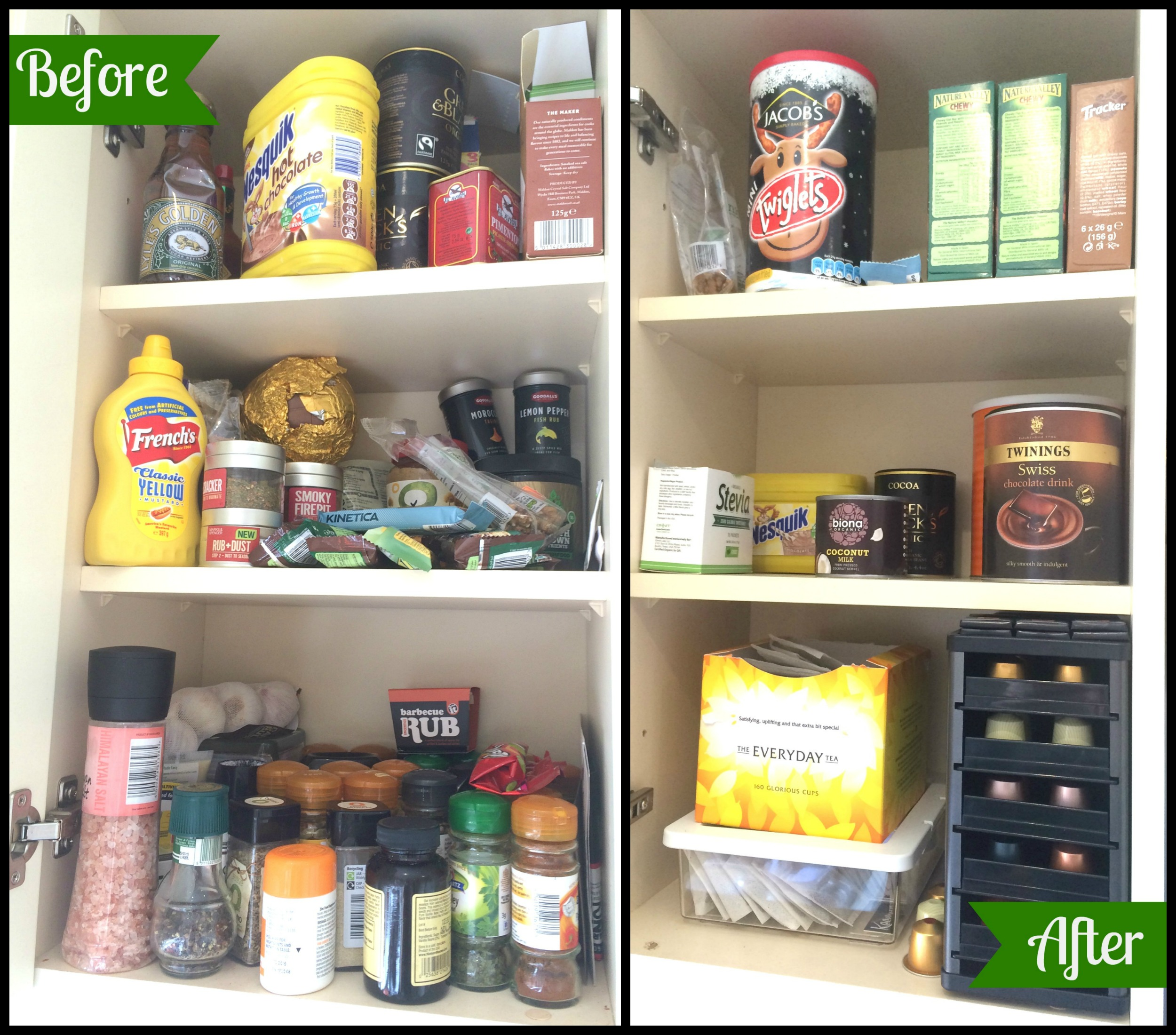 Organized Kitchen Before And After: My KonMari Journey