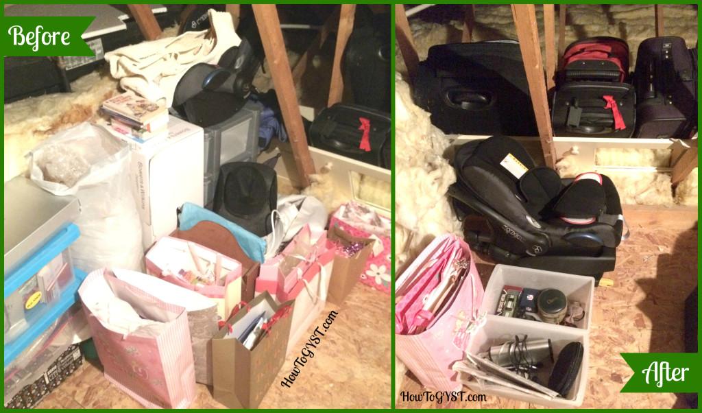KonMari Komono Attic Before & After