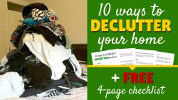 Declutter your home header