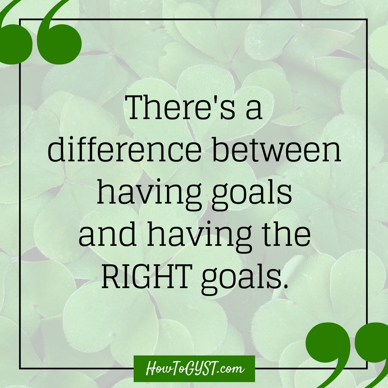 Setting goals can be tricky. After all, how many times have your worked your arse off to get something, only to be disappointed when you finally did?