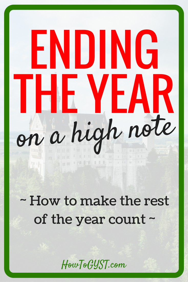 I'm definitely ready to end this year on a high note! Motivation for New Year's resolutions.