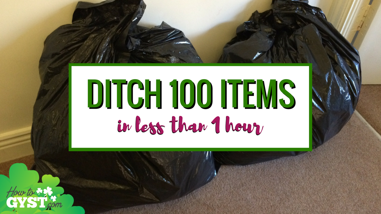 Top 10 posts of 2017 on HowToGYST.com – #3. How to declutter 100 items from your home in less than an hour | Decluttering 100 things during your lunch hour | Minimalism | Downsizing