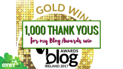 A Thousand Thank Yous | Irish Blog Awards 2017