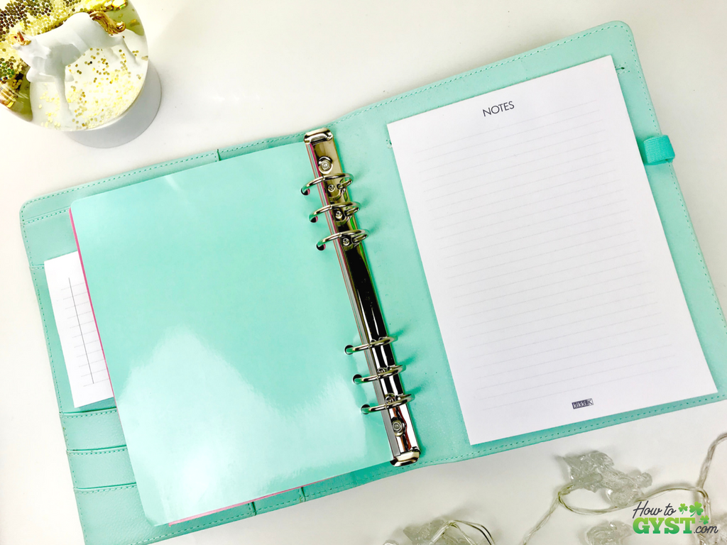 The Ultimate Gift Guide for Stationery Lovers | Looking for gift ideas for the stationery addict in your life? Try a planner | Kikki.K agenda in mint with gold dots (discontinued), back inside cover | Stationery addict | Planner addict | Planner nerd | planners