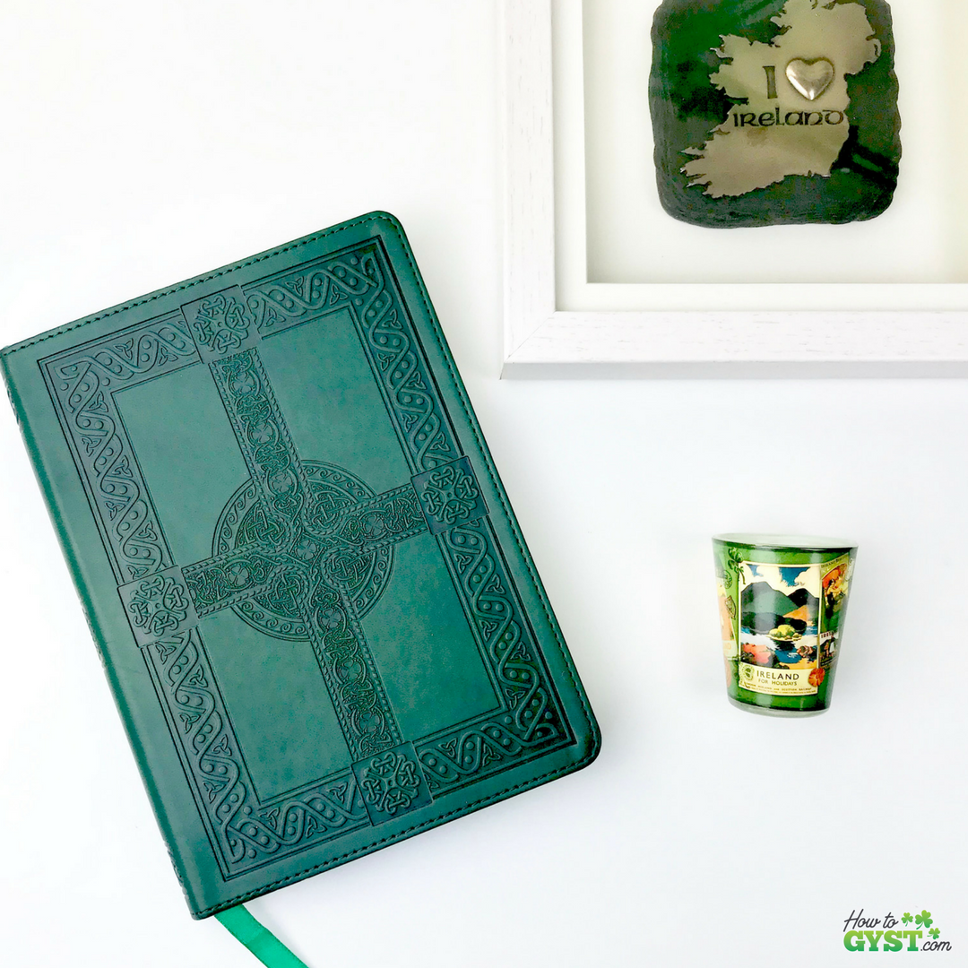 The Ultimate Gift Guide for Stationery Lovers | Looking for gift ideas for the stationery addict in your life? Try notebooks | Green Celtic cross notebook | Irish notebook | Ireland | Stationery addict