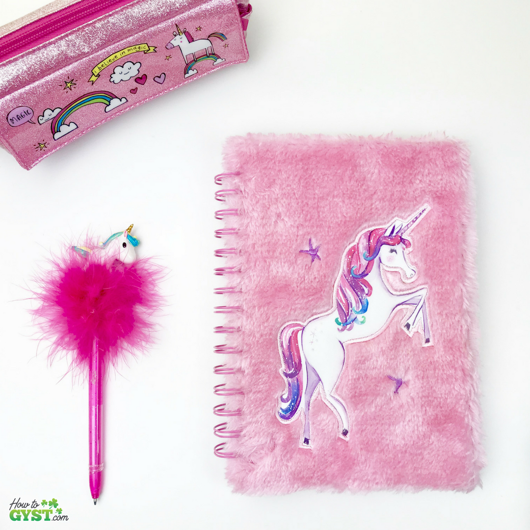 The Ultimate Gift Guide for Stationery Lovers | Looking for gift ideas for the stationery addict in your life? Try notebooks | Unicorn notebook, pink & fluffy | Unicorn pencil case | Fluffy unicorn pen | Stationery addict
