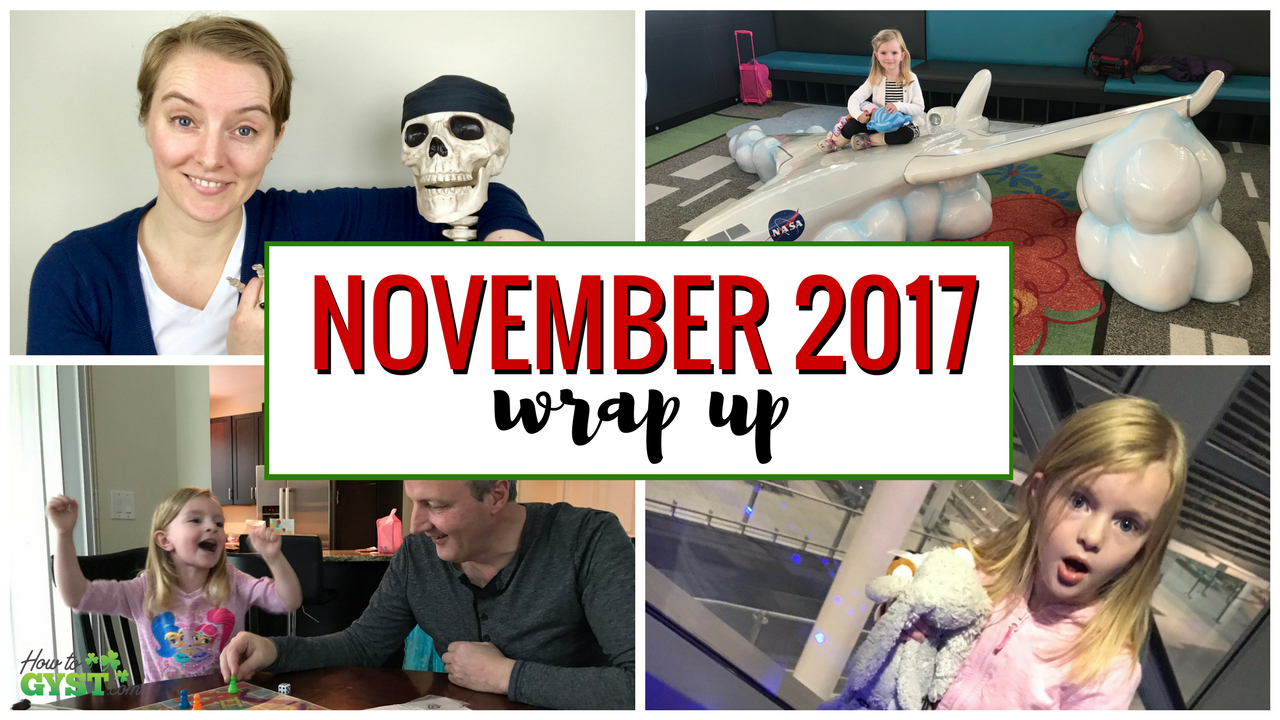 November 2017 wrap-up post for HowToGYST.com