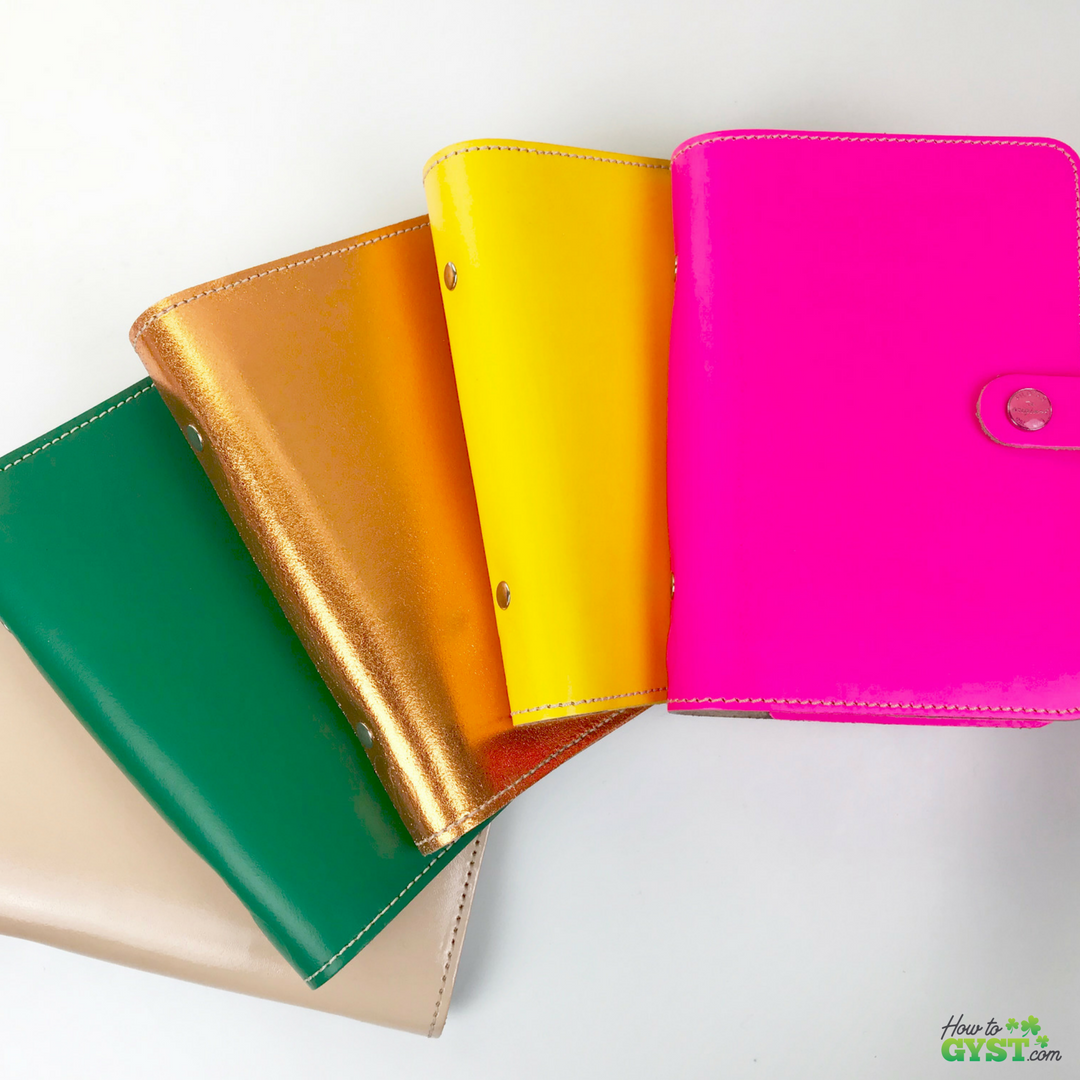 The Ultimate Gift Guide for Stationery Lovers | Looking for gift ideas for the stationery addict in your life? Try a planner | Filofax Originals, Filofax Original personal size in patent nude, green (discontinued), copper (limited edition), yellow (discontinued), & fluoro pink | Stationery addict | Planner addict | Planner nerd | planners