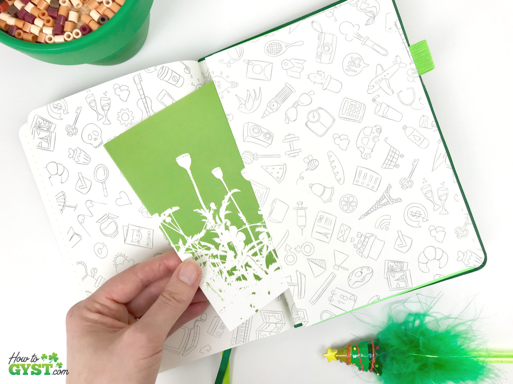 The Ultimate Gift Guide for Stationery Lovers | Looking for gift ideas for the stationery addict in your life? Try notebooks | Scribbles That Matter notebook, green, classic, A5, inside back cover with pocket | Stationery addict