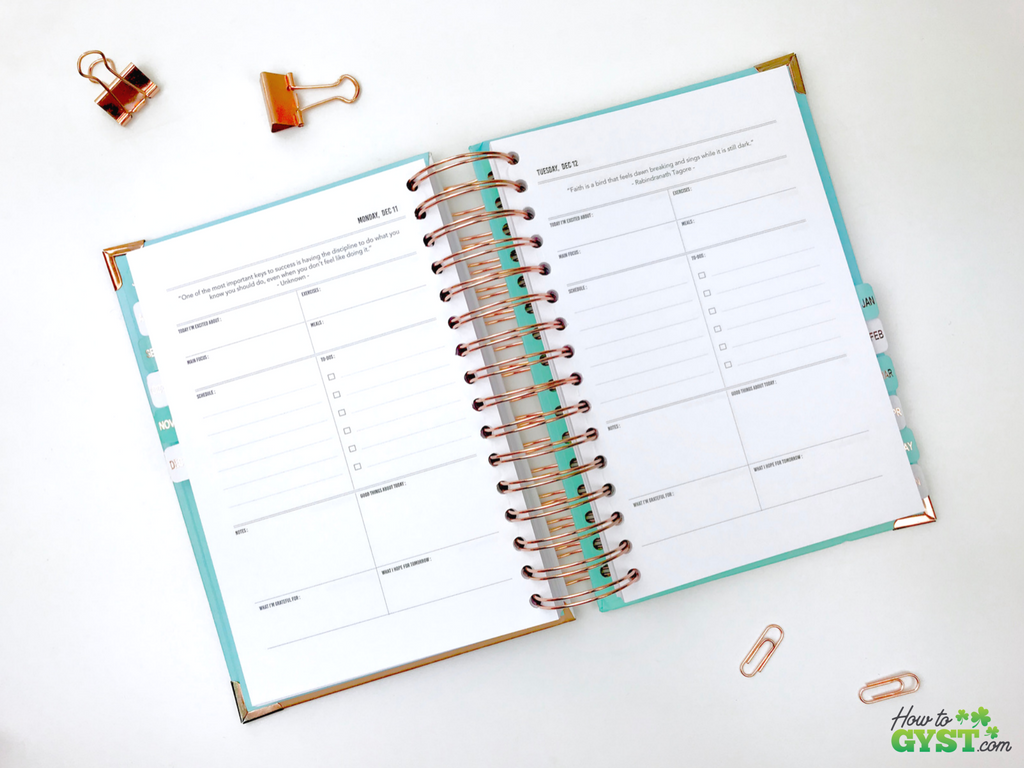 The Ultimate Gift Guide for Stationery Lovers | Looking for gift ideas for the stationery addict in your life? Try a planner | The Happiness Planner, 18 month daily pages, day per page | Stationery addict | Planner addict | Planner nerd | planners