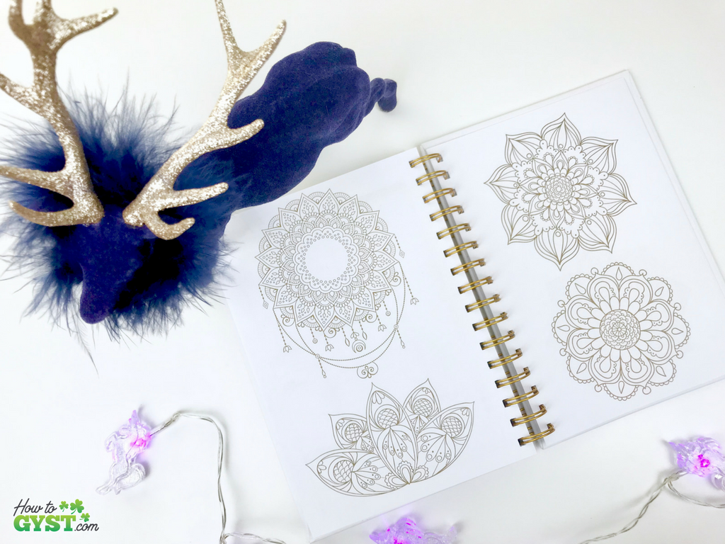 The Ultimate Gift Guide for Stationery Lovers | Looking for gift ideas for the stationery addict in your life? Try a planner | The Path planner, white & gold with gold ink, colouring pages, mandalas | Stationery addict | Planner addict | Planner nerd | planners
