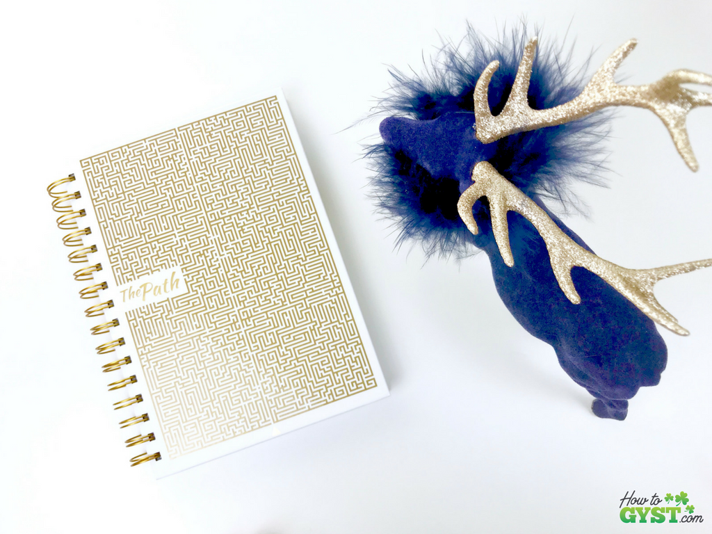 The Ultimate Gift Guide for Stationery Lovers | Looking for gift ideas for the stationery addict in your life? Try a planner | The Path planner, white & gold with gold ink, front cover | Stationery addict | Planner addict | Planner nerd | planners