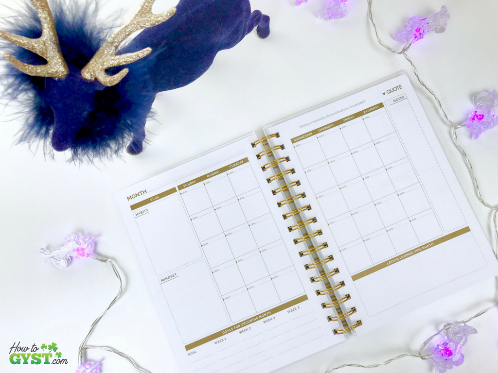 The Ultimate Gift Guide for Stationery Lovers | Looking for gift ideas for the stationery addict in your life? Try a planner | The Path planner, white & gold with gold ink, monthly spread, undated | Stationery addict | Planner addict | Planner nerd | planners
