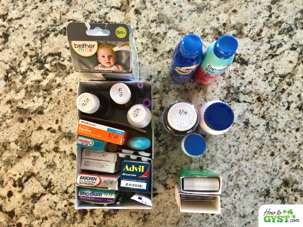 Clearing Out Your Medicine Cabinet - Corral the categories into storage containers